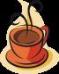 adhesivo cocina taza de cafe
